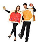 Peanut Butter and Jelly PBJ Costume Adult Couple Set w/one Peanut Butter Plush and One Jelly Plush for Halloween
