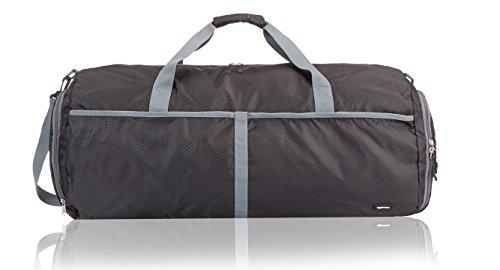 41UiyJKG8xL - AmazonBasics 27 Inch Nylon Foldable Travel Duffel Bag - Black
