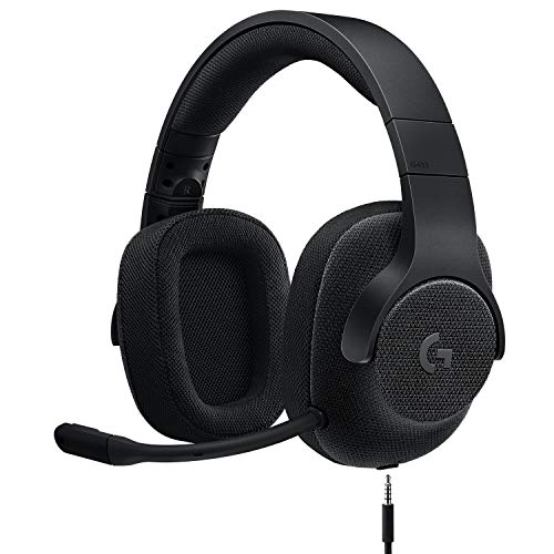 Logitech G433 7.1 Wired Gaming Headset with DTS Headphone: X 7.1 Surround for PC, PS4, PS4 PRO, Xbox One, Xbox One S, Nintendo Switch - Triple Black