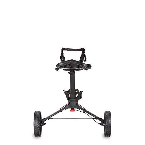 Bag Boy Compact 3 Push Cart, Matte Black/Red