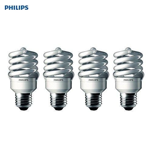Philips 433557 100-watt Equivalent, Daylight Deluxe (6500K) 23 Watt Spiral CFL Light Bulb, 4-Pack.