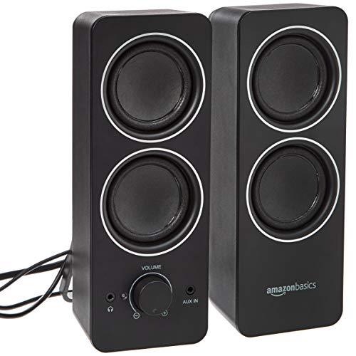 AmazonBasics AC Powered PC Multimedia External Speakers