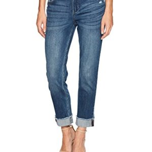 Riders by Lee Indigo Women's Fringe Cuff Boyfriend Jean