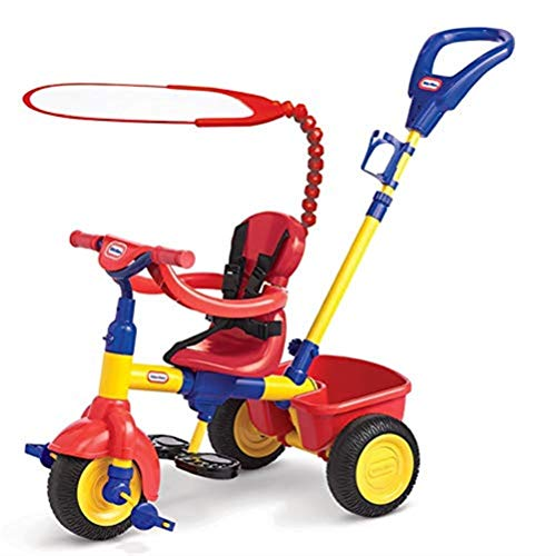 Childrens Tricycle Versatile Childrens Tricycles 12 Months To 6 Years Stable 360° Swivelling Sun Canopy Kids Tricycle The Seat Can Be Adjusted Back Adjustable Handle Bar Child Trike Maximum Weight
