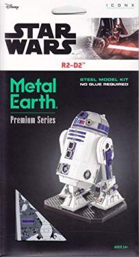 Fascinations-Metal-Earth-ICONX-Star-Wars-R2-D2-Color-3D-Metal-Model-Kit