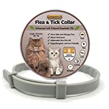 COSYWORLD Flea and Tick Collar for Cats - 100% Natural Essential Oil Flea & Tick Prevention - Adjustable, Safe & Waterproof Flea Control Collar - 8 Months Protection