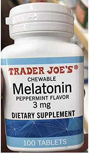 Trader Joe's Chewable Melatonin Pepermint Flavor 3mg (pack of 1)