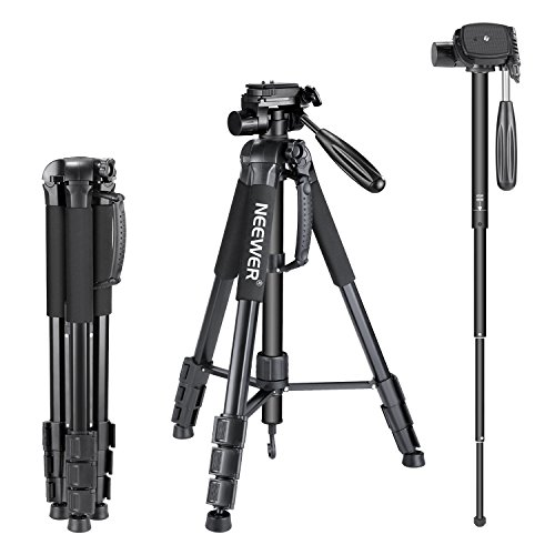 Neewer Portable Aluminum Alloy Camera 2-in-1 Tripod