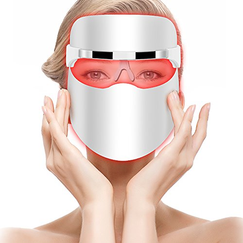 Hangsun Light Therapy Acne Treatment LED Mask FT330 Blue and Red Light Facial Therapy Acne Spot Face Skin Treatment - Unlimited Sessions Use