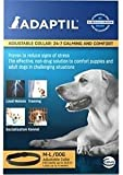 Adaptil Dap Calm On - The - Go Dog Appeasing Pheromone Odorless Collar for Anxiety Stressful Large and Medium Dogs Max Adjustable Neck Size 24.6 Inches