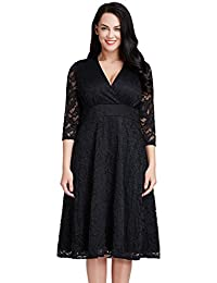 Women's Plus Size Lace Bridal Formal Skater Dress 12W-32W