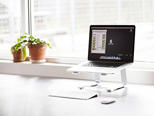 41V MZBi5AL - Griffin Elevator Computer Laptop Stand - Silver/Clear