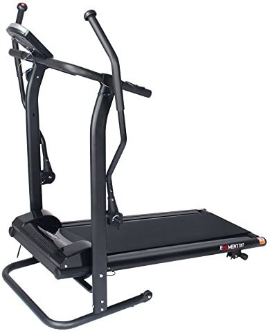 EFITMENT Adjustable Incline Magnetic Manual Treadmill w/Pulse Monitor 5
