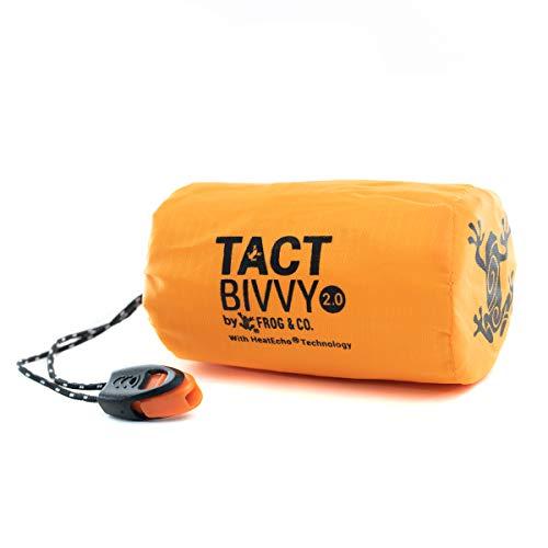 Survival Frog Tact Bivvy Compact Ultra Lightweight Emergency Sleeping Bag - 100% Waterproof Ultralight Thermal Bivy Sack
