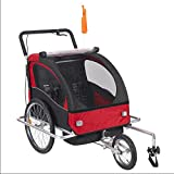 Aluminum Alloy Frame Baby Stroller with 20inch Wheel Fold Bike Trailer Children Bicycle Trailer Jogging Stroller Combo