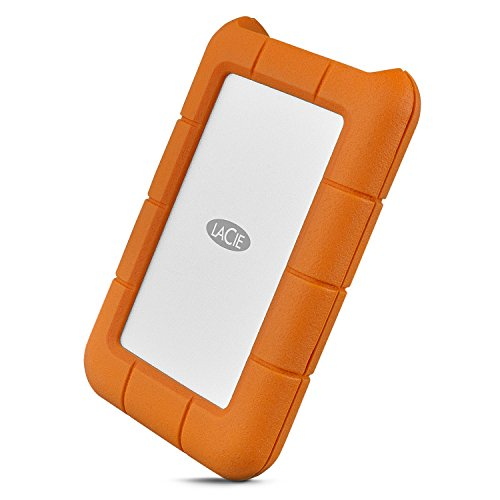 LaCie Rugged USB-C 1TB External Hard Drive Portable HDD USB 3.0 - Drop Shock Dust Rain Resistant Shuttle Drive, for Mac and PC Computer Desktop Workstation Laptop, 1 Month Adobe CC (STFR1000800)