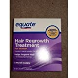 Equate - Hair Regrowth Treatment for Women with Minoxidil 2%, 3 Month Supply( 3 - 2oz bottles )