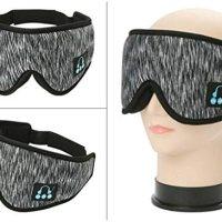 IPOTCH uyku kulaklığı, 3D göz maskesi, Bluetooth 5.0 kablosuz müzik maskesi, göz farı kapağı, göz farı kapağı, erkek kadın uyku, seyahat için, koyu gri 14