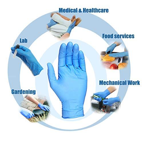 [400 Pack] Small Blue Nitrile Medical Gloves – Non Latex Rubber, Protein and Powder Free, Exam/Food Grade Safe Supplies, Disposable Hand Glove Dispenser Pack deal 50% off 41V7CmuecJL