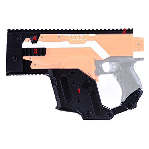 WORKER Mod Kriss Vector Kits Picatinny Rail Mount Combo 5 Items for Nerf STRYFE Toy