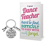 Sportybella Dance Teacher Gift, Dance Teacher Keychain & Card- Dance Jewelry for Dance Instructors