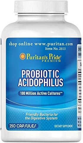Puritan's Pride Probiotic Supplement, Acidophilus, 250 Count 1