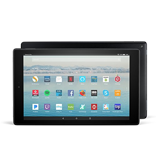 """Fire HD 10 Tablet with Alexa Hands-Free, 10.1"""" 1080p Full HD Display, 32 GB, Black - with Special Offers"""