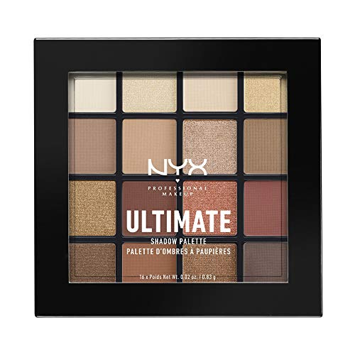 NYX PROFESSIONAL MAKEUP Ultimate Shadow Palette, Eyeshadow Palette, Warm Neutrals, 1 Count
