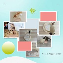 Andiker-Interactive-Cat-Toy-Cat-Plush-Toy-with-Spiral-Spring-Plate-and-Funny-Ball-or-Mouse-Interactive-Stainless-Steel-Spring-Rotating-Cat-Creative-Toy-to-Kill-time-and-Keep-Fit