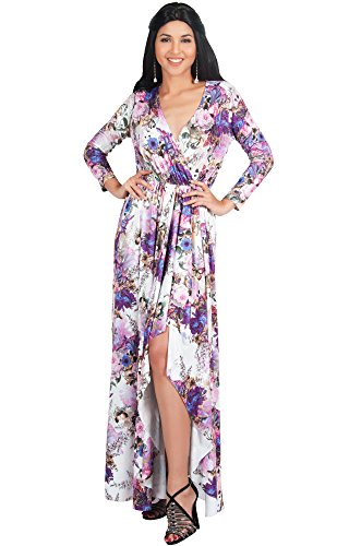 81bpz0vT7LL PLUS SIZE - These sexy and slimming plus size v-neck maxi dresses and gowns are the perfect clothing choice for women STYLE - Floral printed sleeveless maxi dresses that can be dressed up or down to suit your mood OCCASION - Long sleeve bridesmaids dresses or bridal party gown for weddings or special occasions