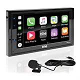 BOSS Audio BVCP9685A Car Stereo with Apple CarPlay, Android Auto – Double Din 6.2 Inch LCD Touchscreen Monitor, Bluetooth, Sync Phone GPS Nav, MP3, USB, Aux, AM/FM Radio Receiver