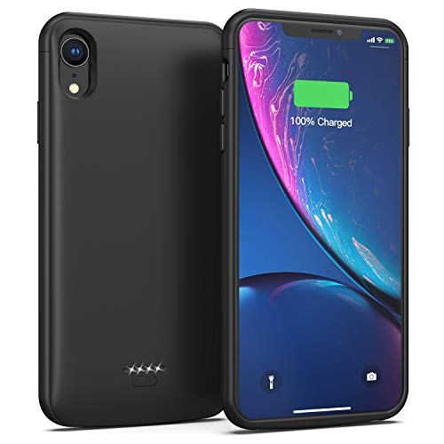 Battery Case for iPhone XR, 5000mAh Charging Case Protective Charger Case for iPhone XR (Black)
