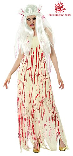 YOU LOOK UGLY TODAY Bride Zombie Costume Scary Halloween Party King Novelty Halooween Costumes