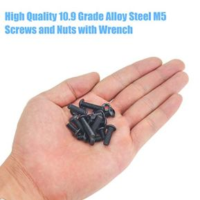 DYWISHKEY-180-Pieces-M5-x-6mm8mm10mm12mm16mm20mm25mm-109-Grade-Alloy-Steel-Hex-Button-Head-Cap-Bolts-Nuts-Kit-with-Hex-Wrench