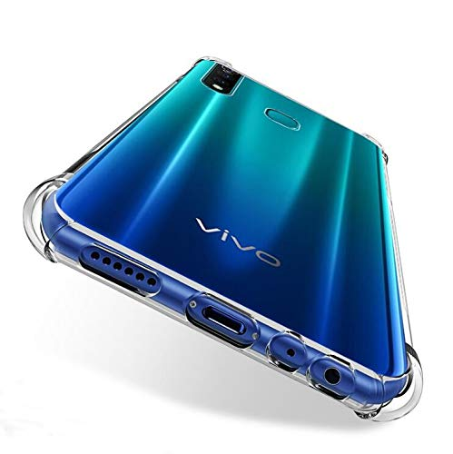 Prime Retail Bump Side Air Cushion Back Cover for Vivo Z1 Pro [Protective + Anti Shock Proof CASE], Dual Layer Transparent Ultra Clear Finish 3