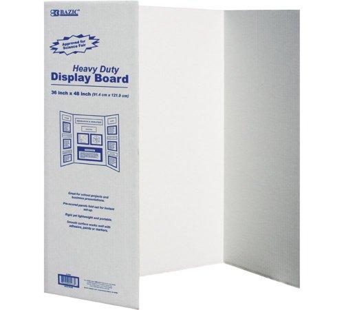 BAZIC Tri-Fold Corrugated Presentation Board, 36 x 48 Inch