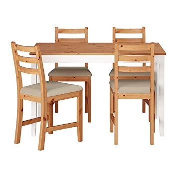 Ikea Lerhamn Table Et 4 Chaises Tache Antique Lumière