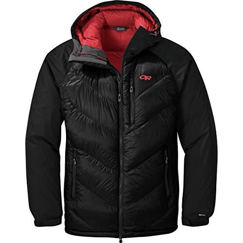 Outdoor Research Men's Alpine Down Hooded Jacket, Black, Medium