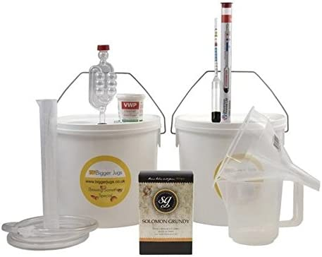Starter Wine Making Set - Solomon Grundy Gold Cabernet Sauvignon 6 Bottle Size Red Wine Kit With Equipment - Home Made Homemade Wine
