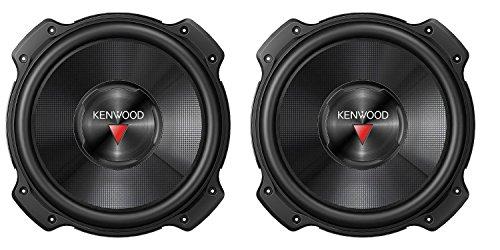 2) Kenwood KFC-W2516PS 10' 2600W Car Audio Subwoofers Subs Power Woofers 4 Ohm