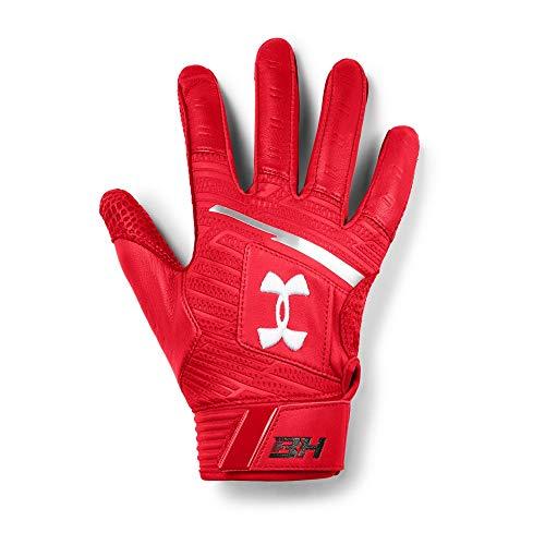 Under Armour Men's Harper Pro Batting Gloves, Red (600)/White, X-Large
