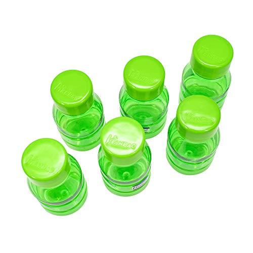 41VYpkzzjZL - HANBAO Plastic Water Bottle, 250ML, Set of 6, Green