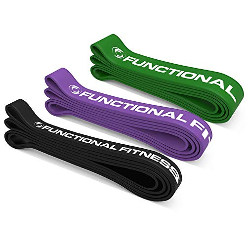 Rubberbanditz Pull Up Assist Bands Set by Functional Fitness. Heavy Duty Resistance and Assistance Training Band