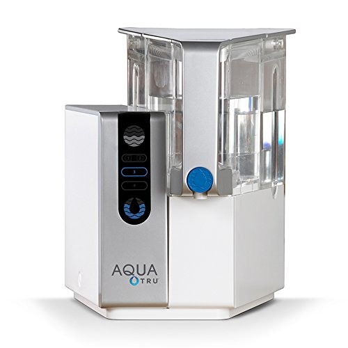 AQUA TRU Countertop Water Filtration Purification System with Exclusive 4 -  Stage Ultra Reverse Osmosis Technology (No Plumbing or Installation