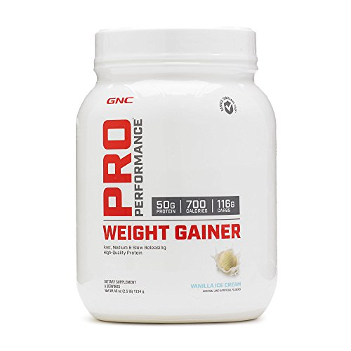 GNC Pro Performance Weight Gainer, Vanilla Ice Cream, 3 lbs
