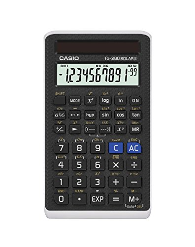 Casio Scientific Calculator Black, 3' W x 5' H, 2.25 (FX-260 SOLARII-S-IH)