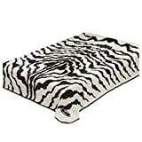 Solaron King Zebra Print Korean Mink Blanket