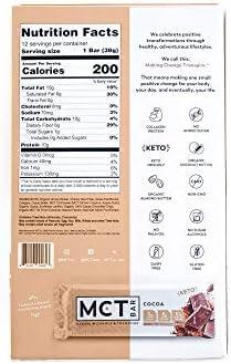 MCTBar Cocoa Keto Protein Bar | 0g Added Sugar, 2-3g Net Carbs, 10g Protein, 7g Fiber | Grass Fed Collagen (24 Pack) 4