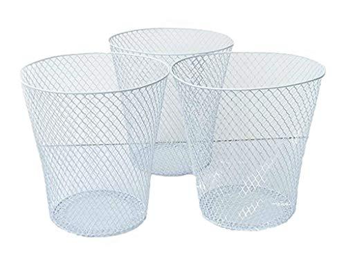 Black Wire Mesh Round Waste Basket (3 Pack), Set of 3
