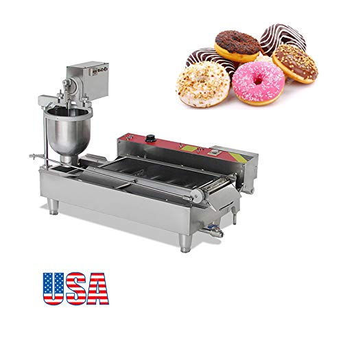 Zinnor Automatic Donut Making Machine,Automatic Donut Maker/Auto Donuts Frying Machine/Auto Molding,Auto Frying,Auto Turning,Auto Collecting (US Shipping -2-5days)